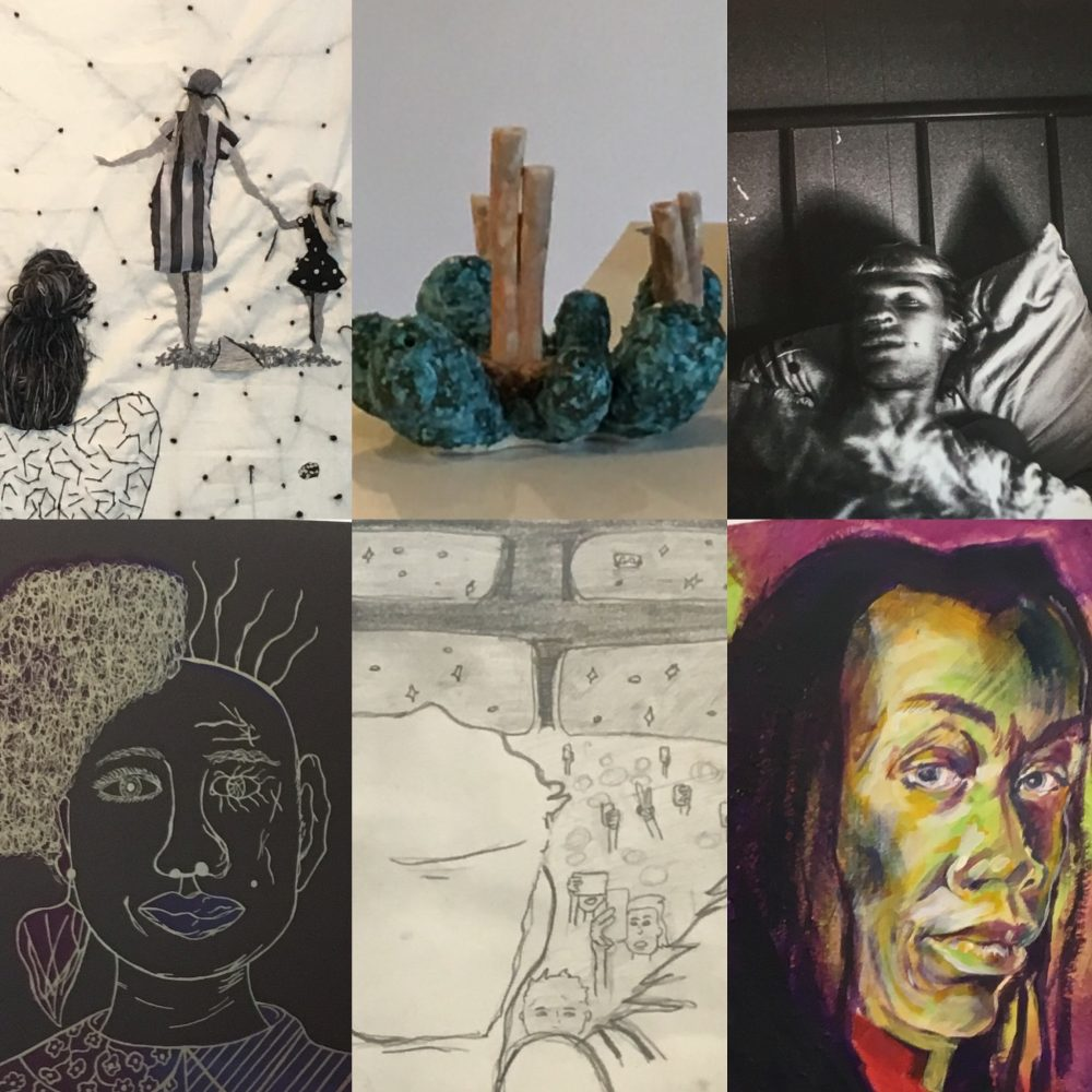 Details of works in the 2019 Paragon Arts Annual Student Exhibition