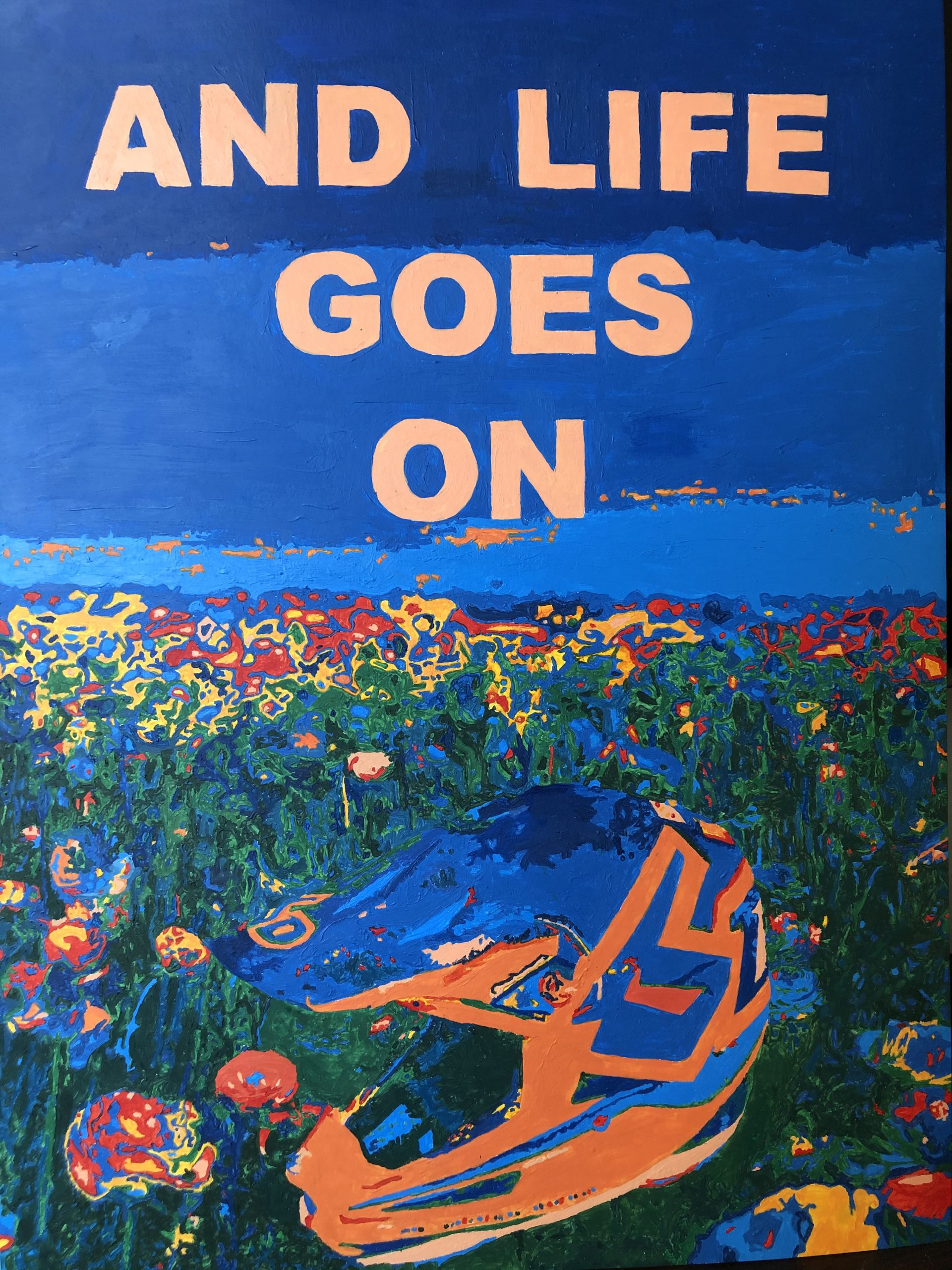 """Madelyn Skillings; And life goes on, 2020; Acrylic Paint; 20 x 16""""; Color Theory"""