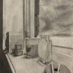 "Ivory Bradshaw; My Windowsill, 2019; Graphite on Paper; 24 x 18""; Drawing"
