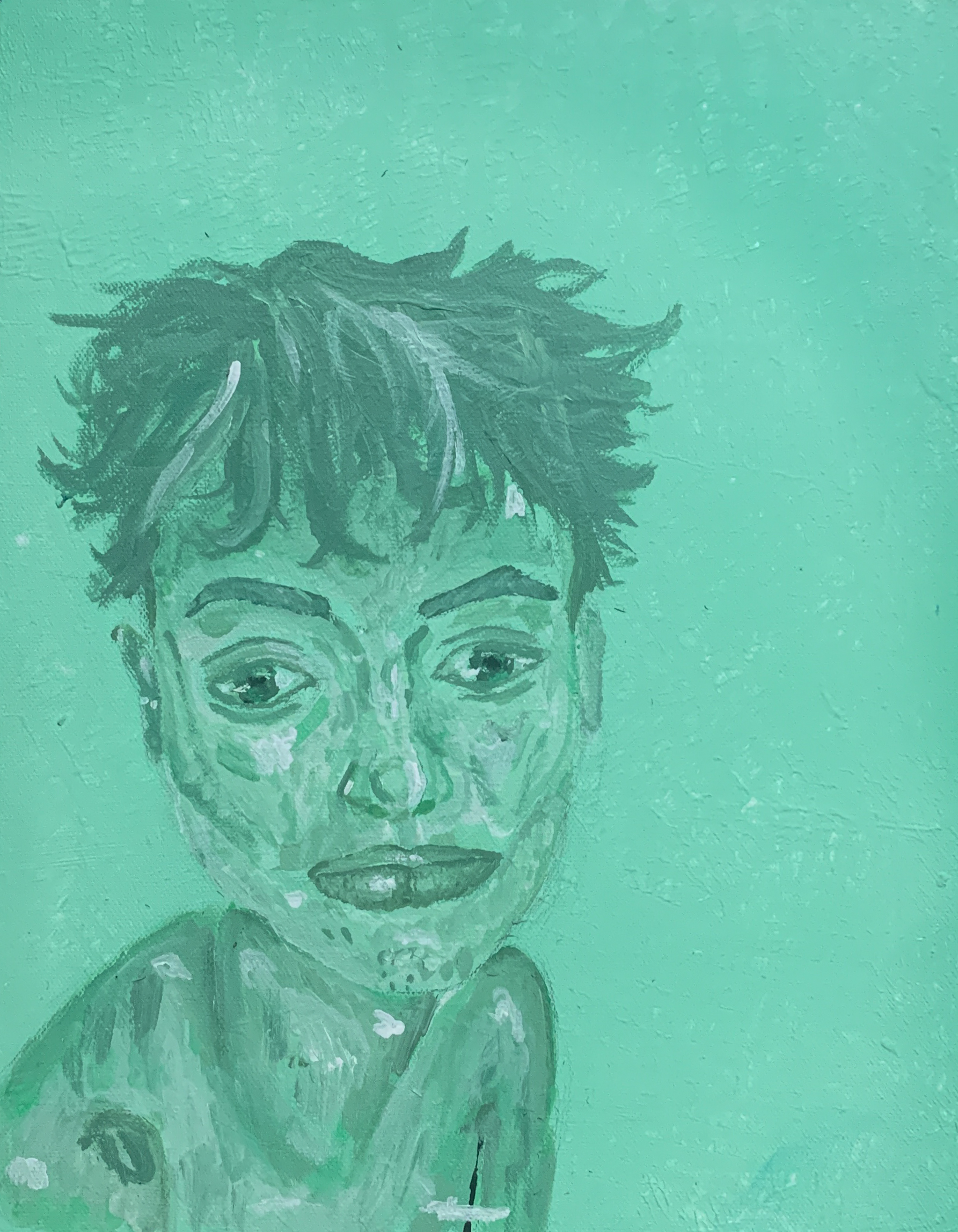 "Jordan Garcia; October 17th 2020, 2020; Acrylic Paint; 14 x 11"""
