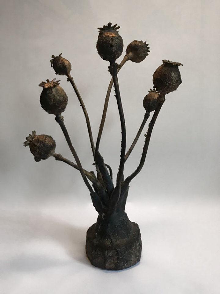 "Jessica Allison-Bourne; Bleeding Garden, 2019; Cast Bronze; 9 x 6 x 4""; Sculpture"