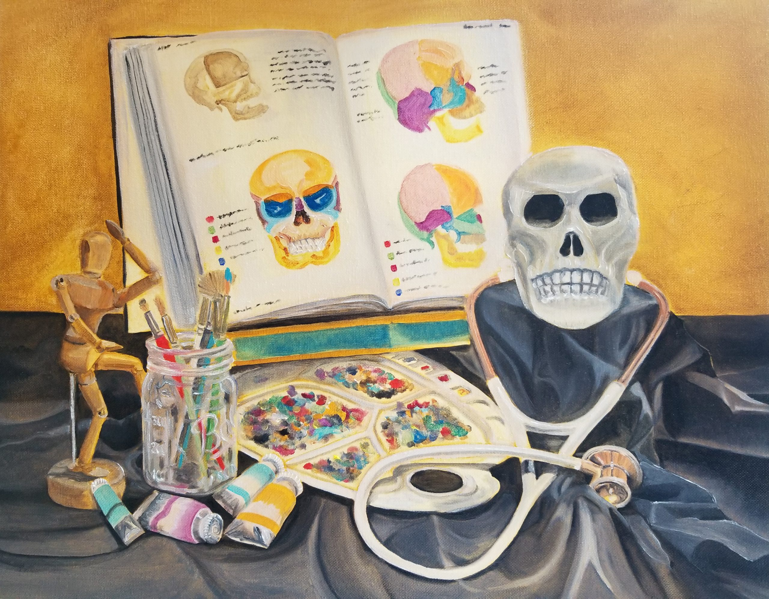 """Catherine Grigg; Still Life, 2020; Oil on Cotton Canvas; 16 x 20""""; Painting"""