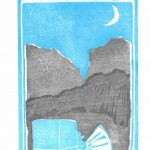 "Liz Quezada; Exploration, 2020; Ink on Paper; 8 x 6.5""; Printmaking"