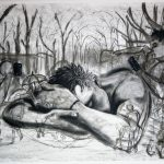 "Bernadette Bonk; New Realities, 2020; Charcoal on Paper; 22 x 30""; Drawing"