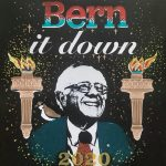 "Jessica Allison-Bourne, Bern It Down, 2020, acrylic screen print on cardstock, 11"" x 8.5"""
