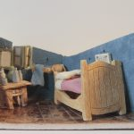 "Janice Archer, Van Gogh's Bedroom, 2019, ceramics, 6"" x 14"" x 6"""