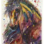 "Joey DeSilva, Stallion, 2020, graphite, ink and acrylics on watercolor paper, 23"" x 16.5"""