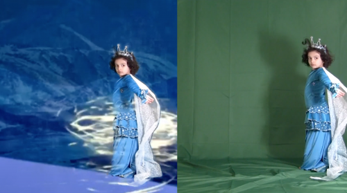 David Mijango, The Queen of Ice, 2020, digital video camera, after effects, premier