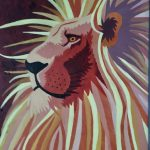"Robin Nelson, Lion of Judah, 2020, acrylic paint on canvas, 24"" x 20"""