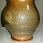"Leila Piazza, Chattered Shino Vase, 2020, mac-10 clay fired at cone 10, 6"" x 5"" x 5"""