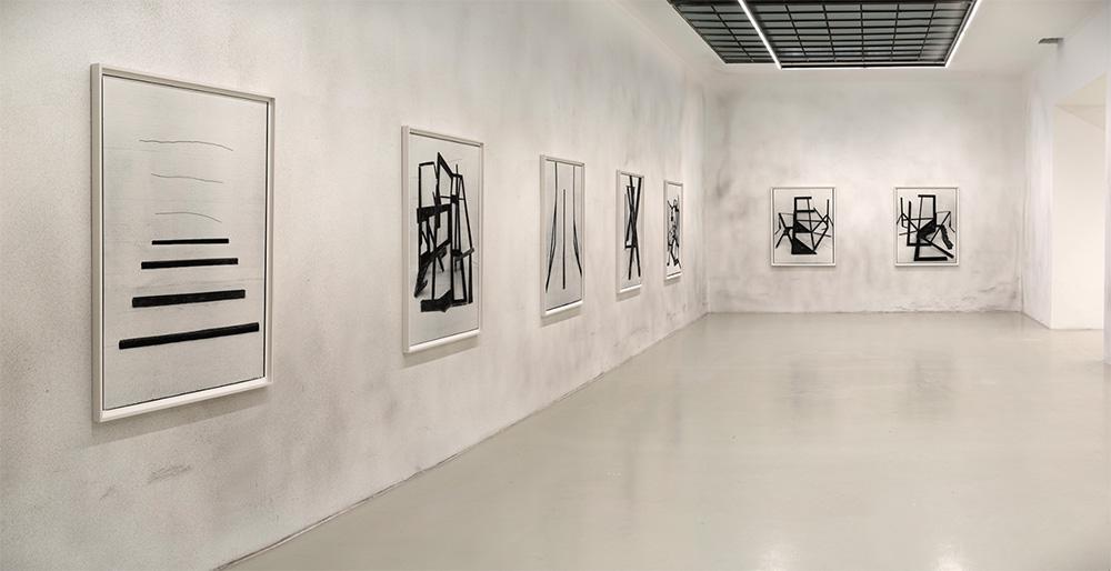 Gallery interior showing Valenzuela's work
