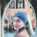 Color poster image of the girl in the foreground standing in the Venetian courtyard seen in the background.