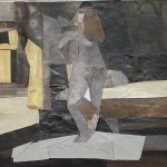 A figure in a room.