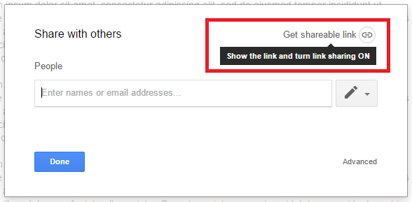 Click the Get Shareable Link button