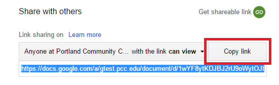 Copy Shareable Link