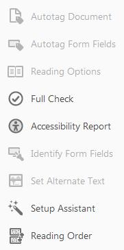 Accessibility Checker in Adobe Acrobat Pro