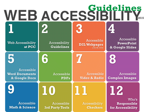 PCC Distance Learnings web accessibility handbook