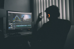 image depicting a person producing video