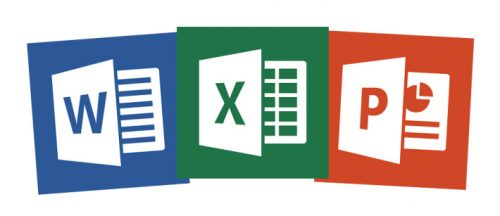 An image of the word, powerpoint,and excel icons