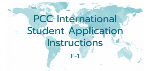 PCC International Student Application Instructions F-1