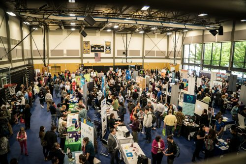 Job fair aerial view
