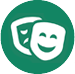Theatre happy and sad faces icon