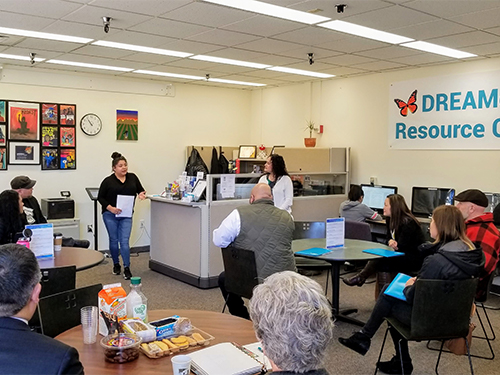 Rock Creek DREAMers Resource Center during a presentation