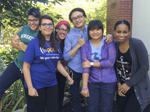 Southeast Multicultural Center students posing together