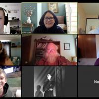 View of Karin Gitchel's Zoom meeting.