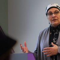 Nermine Ramadan teaching a class