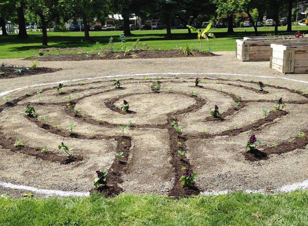 Spiral planting area