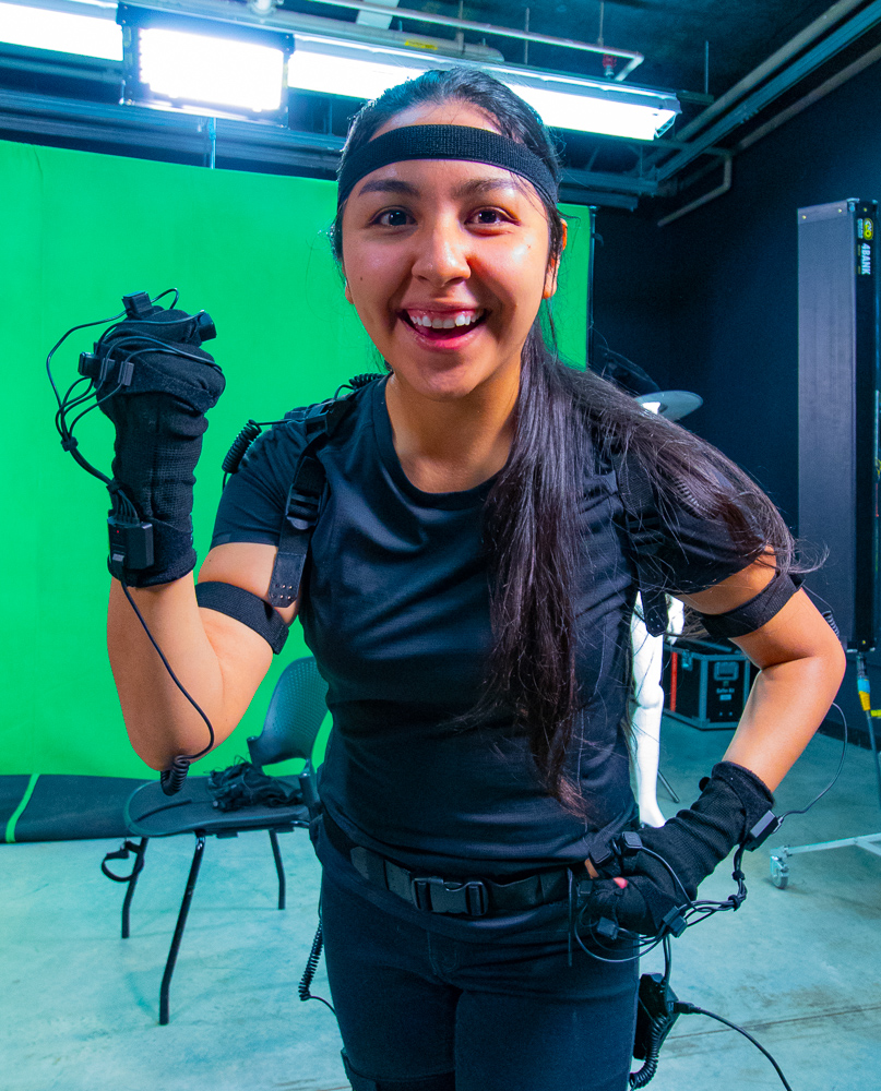 Capturing dance moves with the Cascades motion tracking suit!