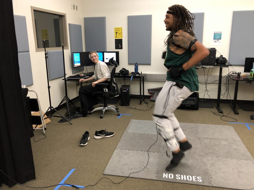 capturing dance moves with Cascades motion tracking suit!