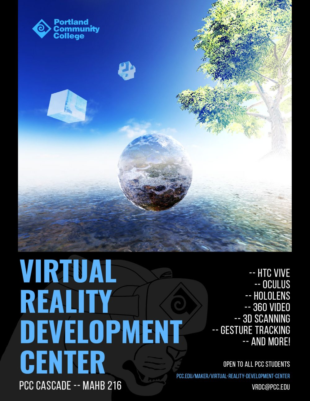 flyer for the Virtual Reality Development Center