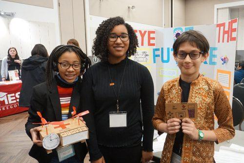 Students at a MESA event