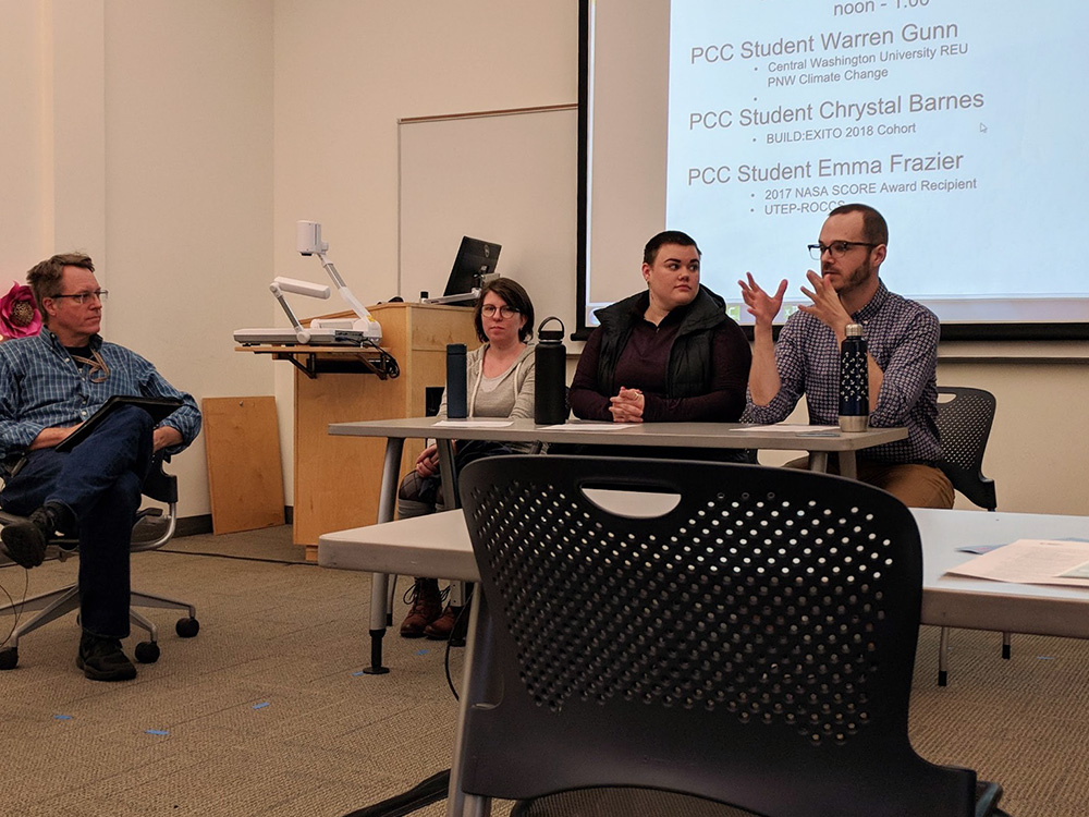 Panel discussion in a PCC classroom