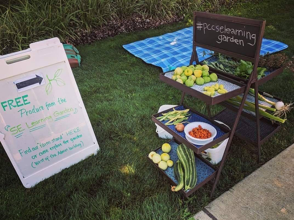 Free produce stand from the PCC Southeast Learning Garden