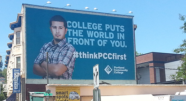 Think PCC First billboard
