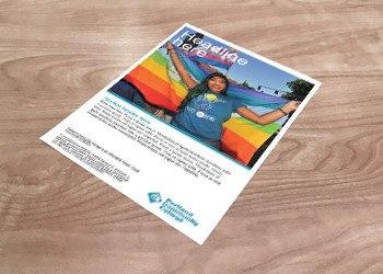 Large photo handbill