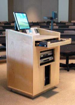 PCC classroom podium