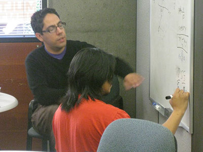 Student tutoring another student