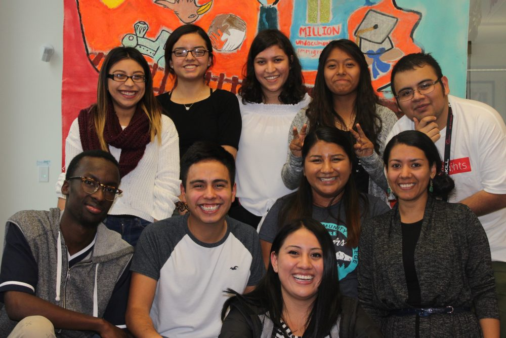 Students in the Multicultural Center