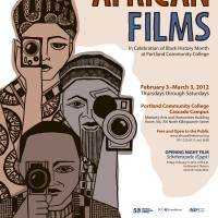 The 2012 Cascade Festival of African Films poster.