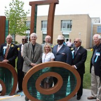 The finished pieces for the Unity Art Project were celebrated by PCC leaders and past college presidents last May.