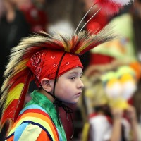A young dancer from last year's powwow.