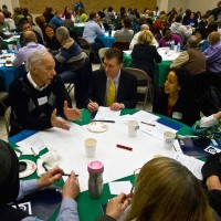 Campus stakeholders share their opinions at the Campus Identity Visioning Session in February 2013.