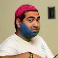 The Intel Ultimate Engineering Experience wasn't all work. Students got to have some fun winning raffle prizes and coloring their hair or faces.