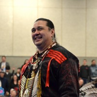 Whip Man Ed Goodell (Confederated Tribes of Siletz).