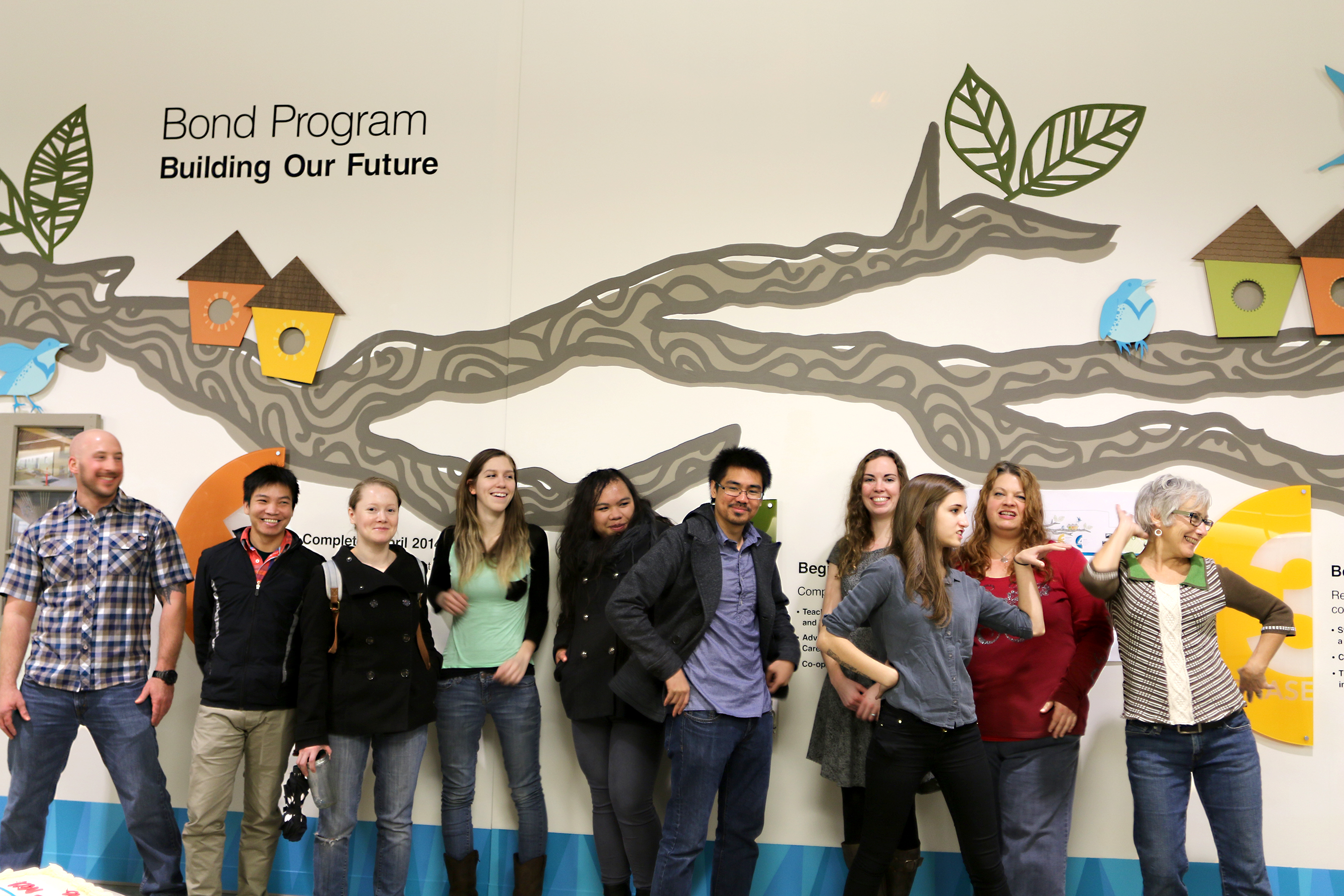 Design students create giant mural news at pcc for Creating a mural