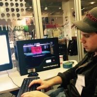 Eric Thomas works his magic during a recent hackathon.